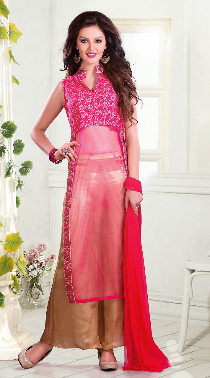 Pink Readymade Palazzo Pant Suit 2FD3491180