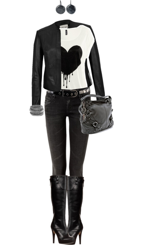"""Black Heart"" by angela-windsor on Polyvore"