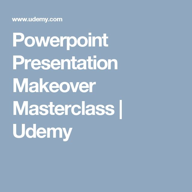 Powerpoint Presentation Makeover Masterclass   Udemy