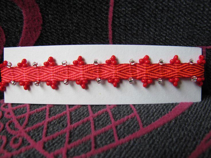 pulsera tablet weaving tejido con targetas