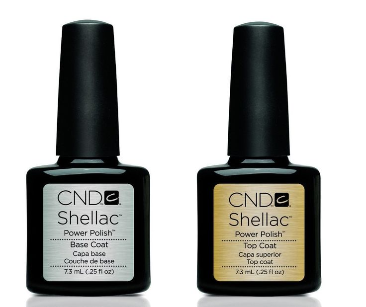 CND Shellac Power Polish Gel UV Base and Top Coat