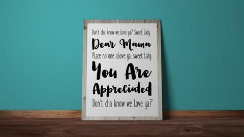 Dear Mama, 2pac, Mother, typography, lyrics, Wall Print, Lyric Art, Instant Download