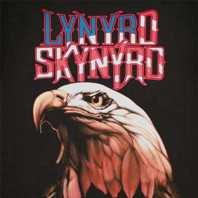 Lynyrd Skynyrd Americana Black Graphic Tee Shirt | WearYourBeer.com