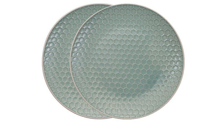 MONOQI   2 Honeycomb Plates - Green