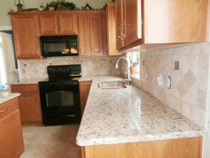 Giallo Napoli Granite Countertops Installed In Charlotte Nc 5 10 13 Http Www