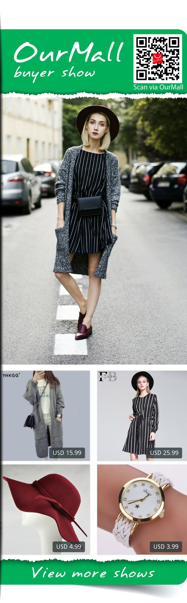This is Olga Oktawia's buyer show in OurMall;  1.Autumn and Winter Women Loose Knit Cardigan Jacket Pocket Raincoat Korean Wild Ladies 2.Sale Natural Full Autumn Women Vestidos Party And Vertical Striped Dress Long Sleeve Casual Plus 3.2015 Summer Ladies Women\'s Fedora Beach... please click the picture for detail. http://ourmall.com/?imiIjq