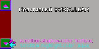 CSS неактивный scrollbar