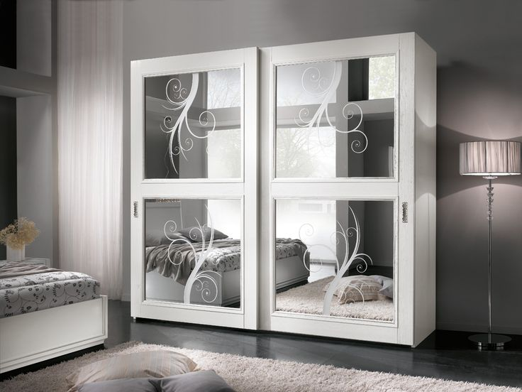 Trend Mirrored lacquered wardrobe with sliding doors Giselle Collection by Gambella Design
