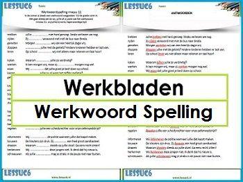 Werkbladen Werkwoord Spelling