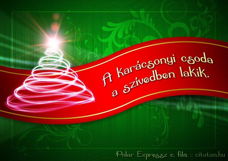A Polar Expressz c. film részlete a karácsony csodájáról.