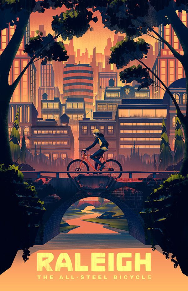 Illustration / Character Design / 2014 Raleigh Heritage Poster - Brian Miller