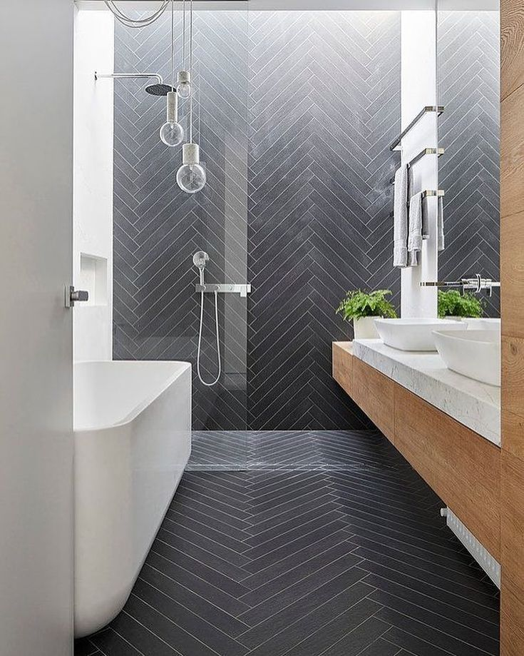 tubs for small bathrooms herringbone gray glass