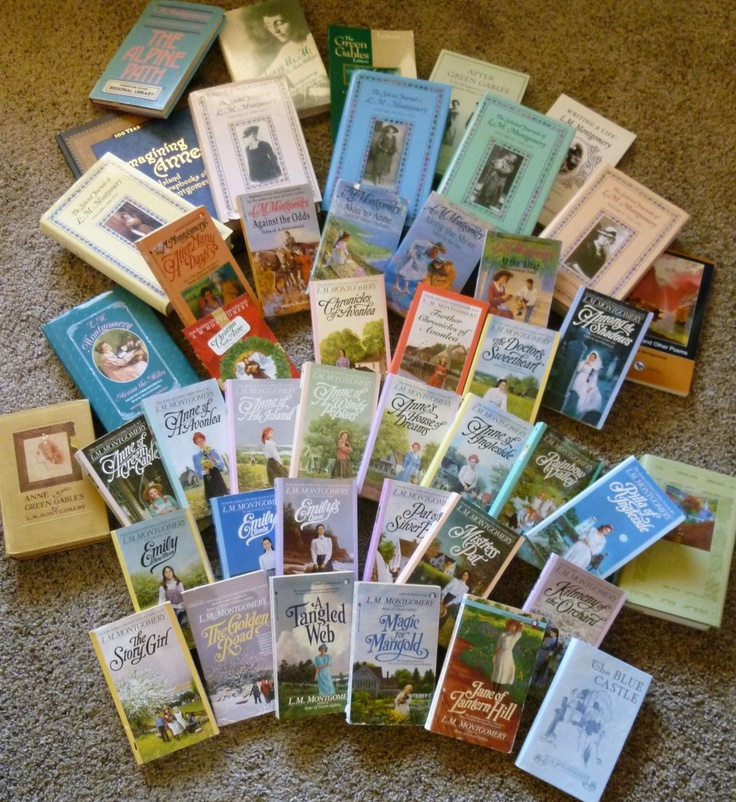 My goal: to read ALL of L.M. Montgomery's books. Just look at them!: