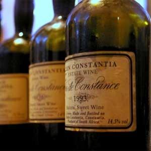 Christian Grey drinks SA wine-  Klein Constantia Vin de Constance