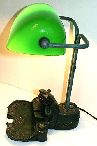 950 kr. Vintage retro Bankers Desk Lamp schoolboy base in Art Nouveau style PAT tested Vintage bankers desk lamp http://www.amazon.co.uk/dp/B01CNWZA7K/ref=cm_sw_r_pi_dp_cVX3wb1H99Q75