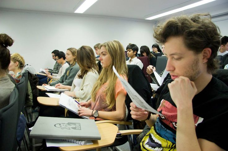 """First-year students listen to a lecture in the core class """"Medieval Literature and Culture: Forms of Love."""""""