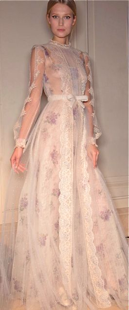 Valentino - I found a vintage dress very similar to this but the entire thing is lavendar, same lace detailing & collar