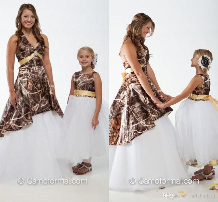New Mother Daughter Matching Dresses Sexy Ball Gown Cheap Camo Flower Girl 039 Dress Crew Neck 2015 White Tulle For Wedding Party Biscotti Dresses Flower Girl Dress Patterns From Earlybirdno1, $76.04| Dhgate.Com