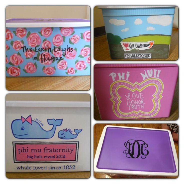 Love the top monogram for rally box? or pin box