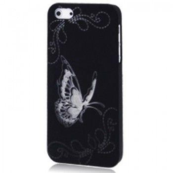 Butterfly Pattern Black iPhone Case