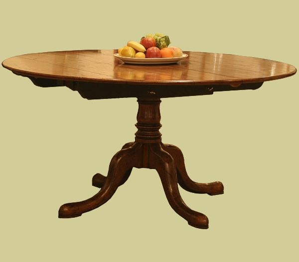 Circular Extending Dining Table, Handmade In England From Solid Oak And  Part Of Their Bespoke
