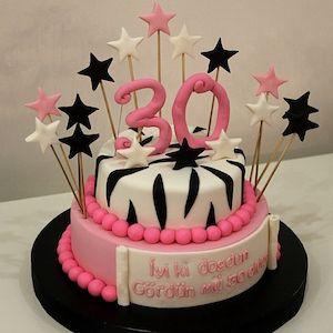 30 Yaş Pastası - Doğum Günü Pastaları | Nice Yaşlara