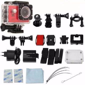 อย่าช้า  V3 SJ9000 Wifi 4K 30fps Action Sports Camera Waterproof Camcorderwith Accessories (RED) - intl  ราคาเพียง  1,050 บาท  เท่านั้น คุณสมบัติ มีดังนี้ 4K 30fps, 2.7K 30fps, 1080P60fps, 1080P 30fps, 720P 120fps, 720P 60fps, 720P 30fps Video Time-LapsedSupported Slow Motion VideoSupported 2 inches LCD screendisplay Comes with a waterproofcase, up to 30m waterproof 6G HD 170° degree wideangle lens Built-in WiFi for fullcamera control, live preview, photo playback and sharing of…