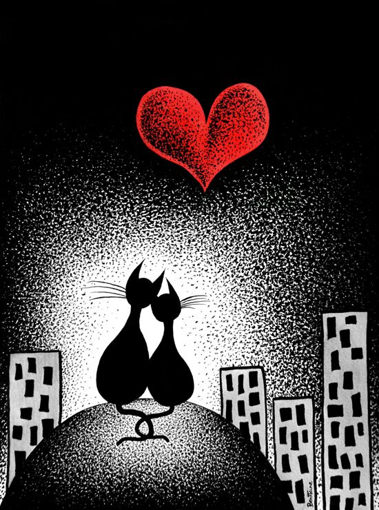 love this #cats in love