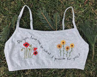 Wildflower bralette by botanicalthreads on Etsy