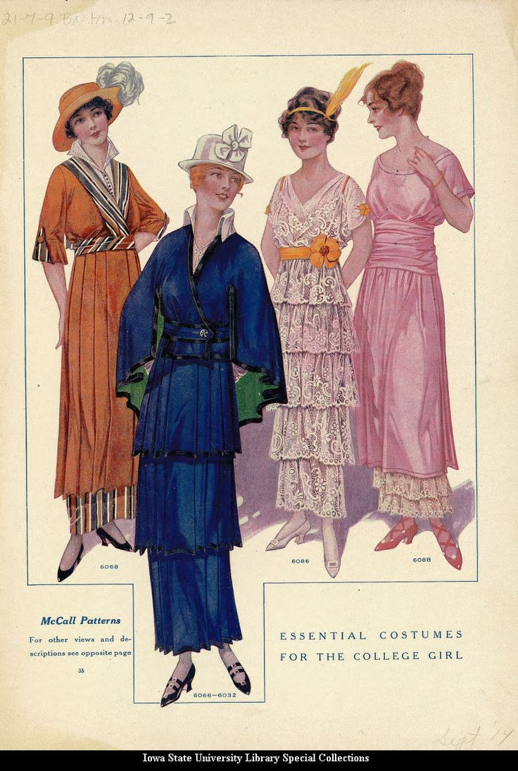 Day and party dresses, 1914 US, McCall's Magazine