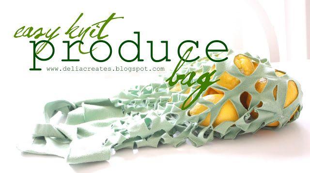 Green...Easy Knit Produce Bag - delia creates