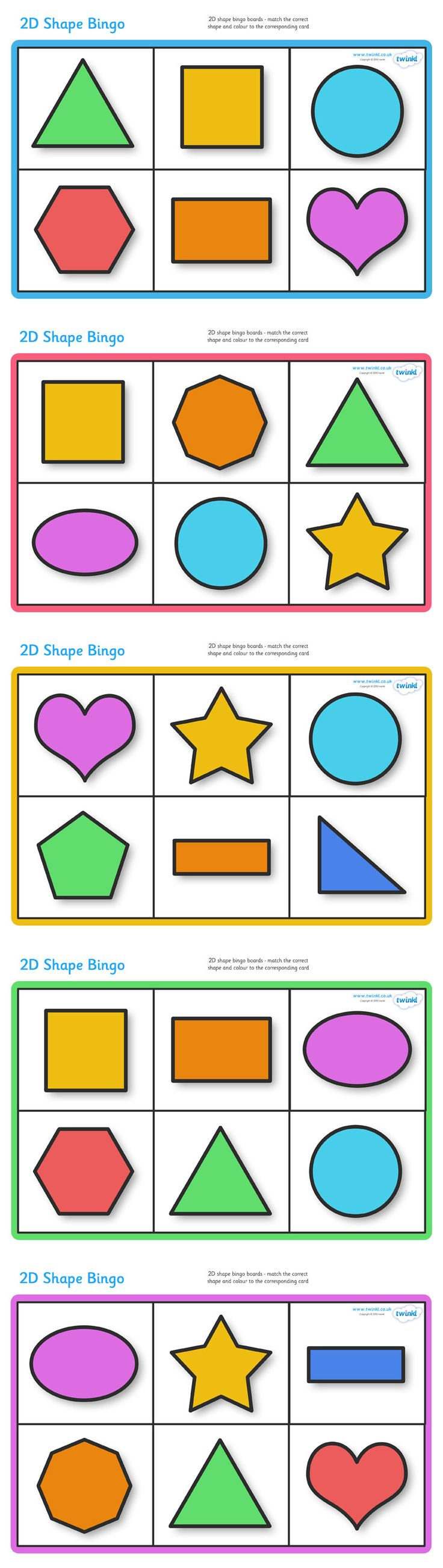 Worksheet Shape Printable best 25 printable shapes ideas on pinterest for twinkl resources 2d shape bingo classroom printables pre school