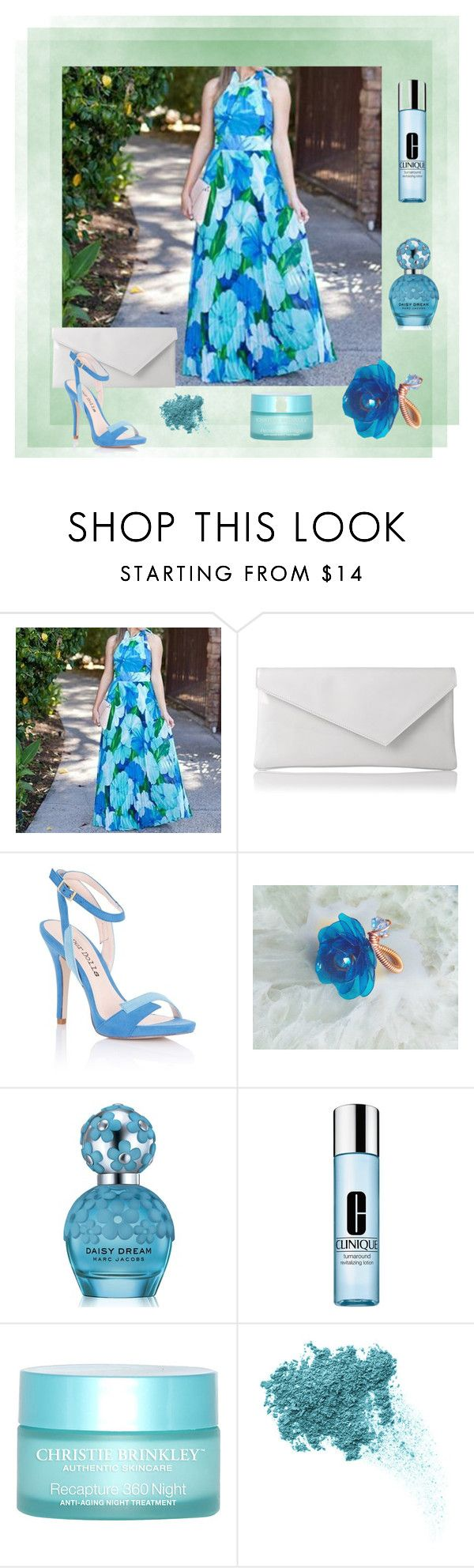 """Blue & Turquoise"" by styledonna on Polyvore featuring moda, Rene, Joelle, L.K.Bennett, Lipsy, Marc Jacobs, Clinique, SkinCare i Bare Escentuals"