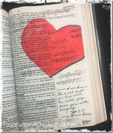 Bible Art Zeph 3-17 Singing Joy Over Me
