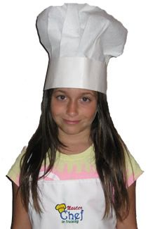 Six full Flair Disposable Chef Hats by Growing Cooks