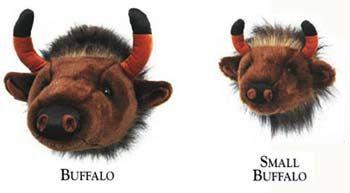 buffalo plush head mounts