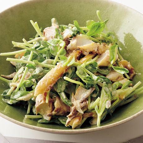 干物と豆苗のみそマヨあえ | 重信初江さんのおつまみの料理レシピ | プロの簡単料理レシピはレタスクラブニュース