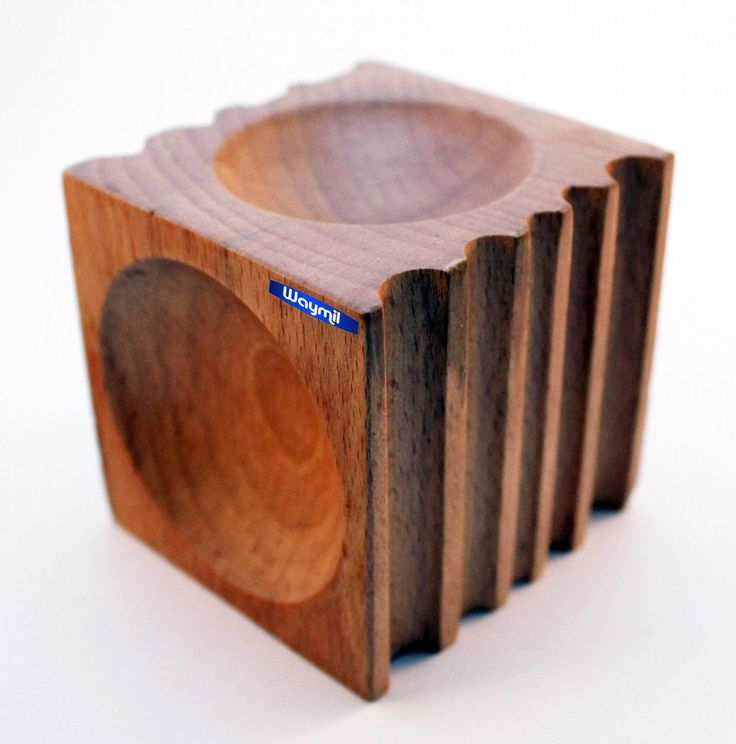 WOOD FORMING BLOCK GROOVED W/ 4 HALF SPHERES, 5 U-CHANNELS JEWELRY DAPPING TOOL