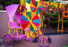 Colorful Tricycle for a Mela Themed Mehndi Party, Decor Ideas for fun and fancy…