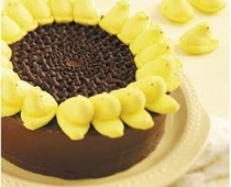 Sunflower cake with peeps!