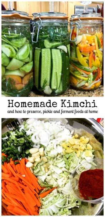 How to Make Kimchi - learn about preserving, pickling and fermenting foods at home.