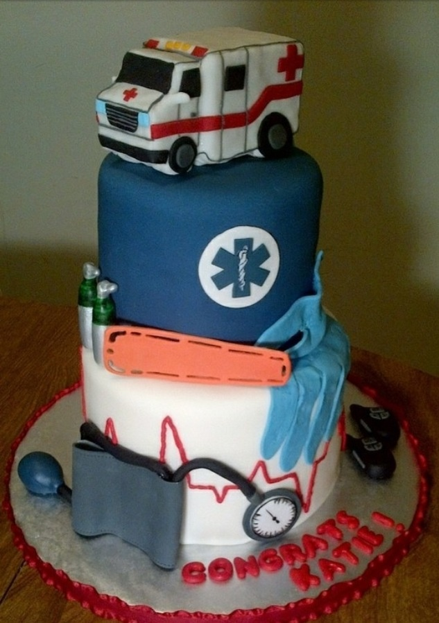 Graduation EMT cake