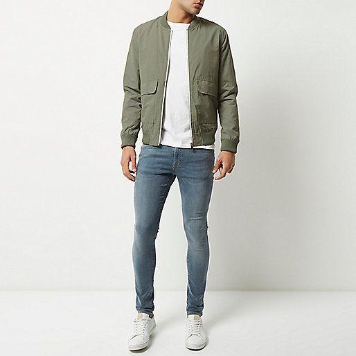 Green bomber jacket - bomber jackets - coats / jackets - men
