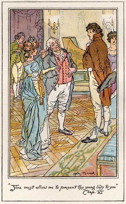 CE Brock Illustration From Pride Prejudice