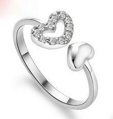 Кольца для женщины любви сердца кольцо Jewelrypalace AAA Cz кольца 925 серебряные кольца 925 марка ювелирных изделий женские украшения в форме сердца