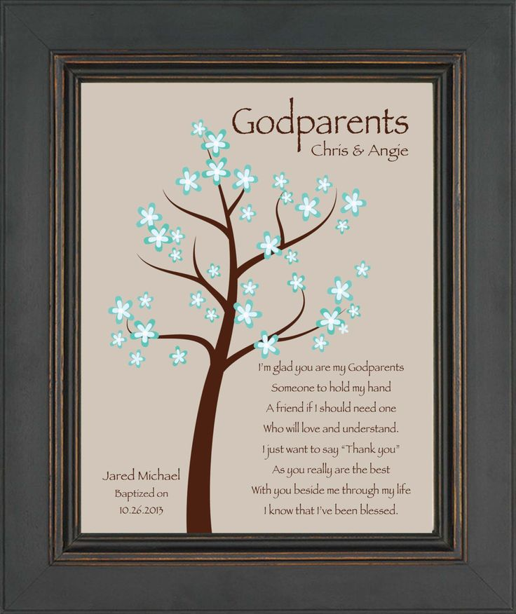 Godparents gift - 8x10 Print - Personalized gift for ...