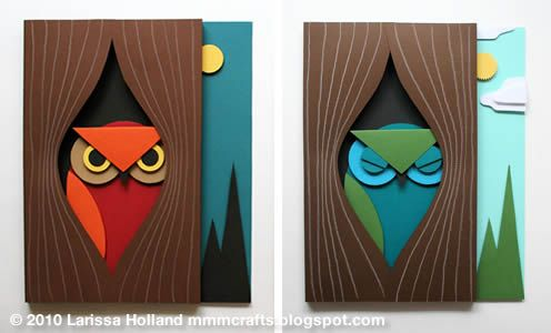 3D Paper Owl from mmmcrafts | Skip To My Lou