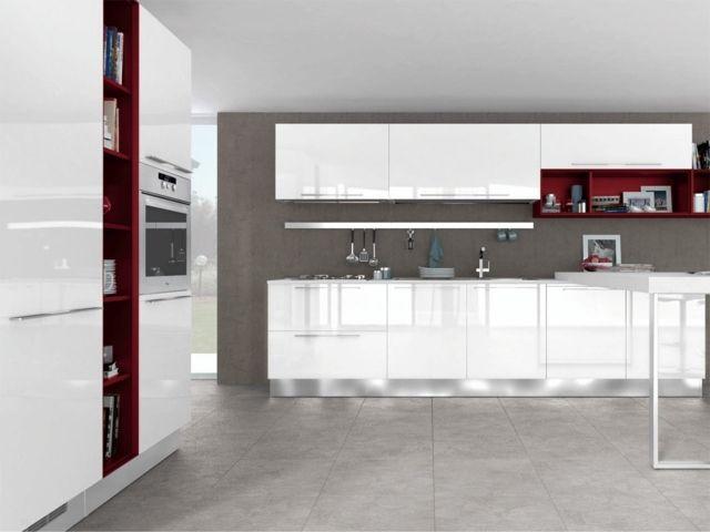 Cuisine Design Moderne Rouge Blanc