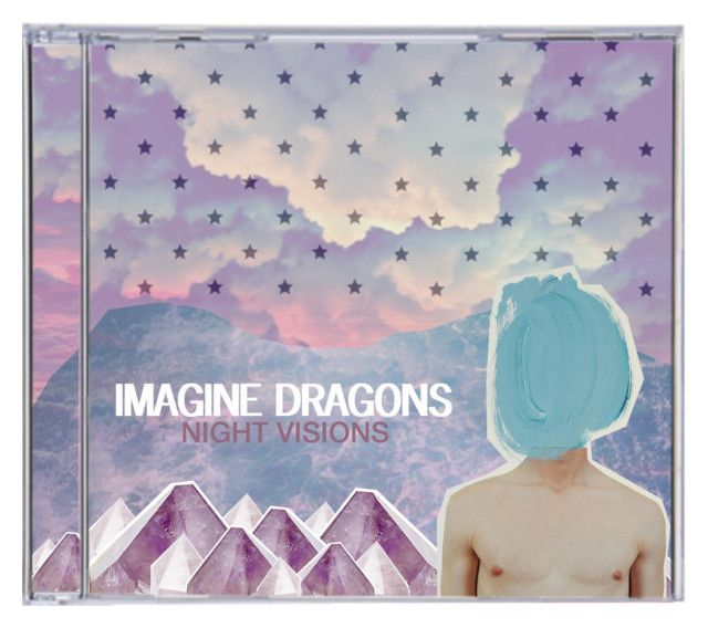 """""""CD Cover- Imagine Dragons Night Visions // Top Set"""" by rockgirlfriend15 ❤ liked on Polyvore featuring kunst"""