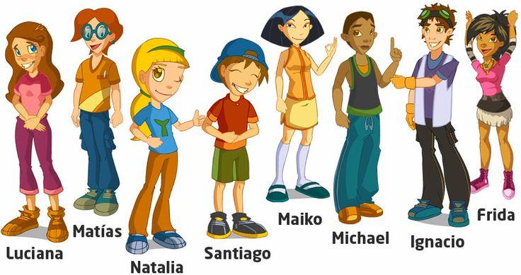 5 personajes: